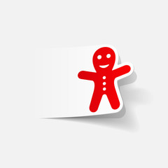 realistic design element: gingerbread man