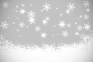 Christmas black and white background snowflakes and light