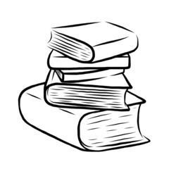 stack of five books