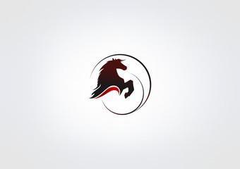 horse Power icon Busines Symbol animal Logo circle