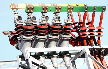 electrical copper terminals of a power plant