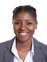 Passbild einer lachenden Frau aus Afrika