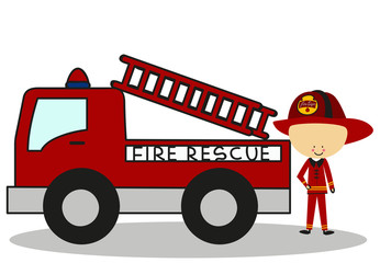 Doodle Firefighters Fire Rescue - Full Color