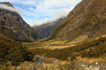 Mountain Landscape at the Milford Sound
