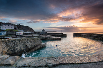 Wall Mural - Charlestown harbour on the Cornwall coast near St Austell