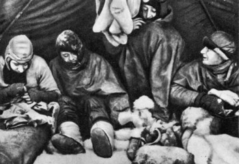 Scott's expedition (from left): Evans, Scott, Bowers, Wilson