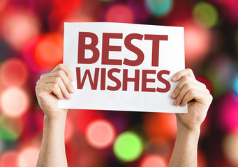 Best Wishes card with colorful background