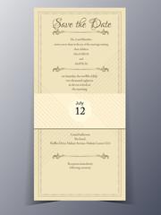 wedding invitation card vector template