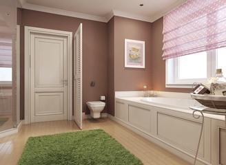 Children's bathroom classic style