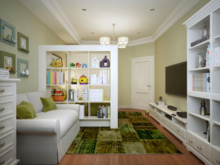 Children's room for boy modern style