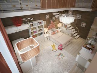 Girls bedroom modern style