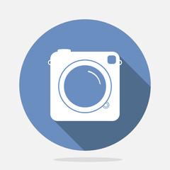 Retro Camera Blue Icon