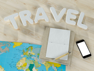 Traveling mock up business template. High resolution.