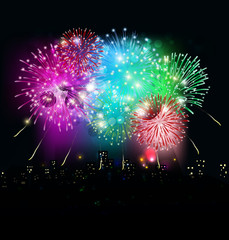 happy new year with firework
