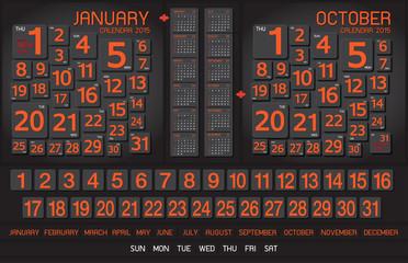 calendar 2015 Note Board Background