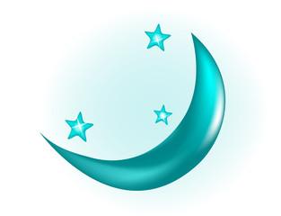 Месяц. Луна. Ночное небо. Звезды. Звездное небо. Небо