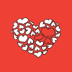 Valentine's big red heart