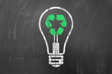Recycling or saving electric energy.