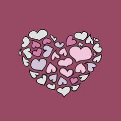 .Valentine's Burgundy heart 2.