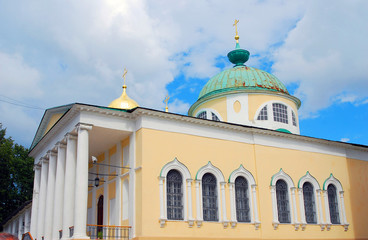 Holy Transfiguration Monastery in Yaroslavl, Russia. UNESCO Site