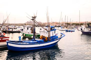 Blue Fishing Boat