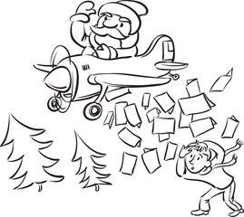 whiteboard drawing - christmas cards bombing