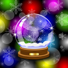 glass festive ball