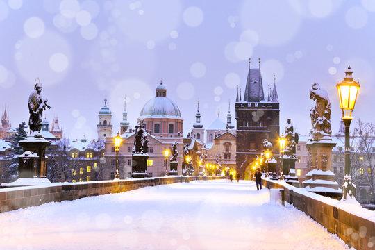 Charles bridge, Old Town bridge tower, Prague (UNESCO), Czech r