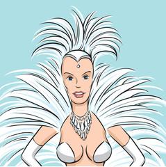 samba dancer woman
