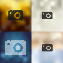 photo icon on blurred background