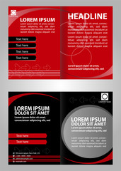 Vector business marketing brochure, poster template