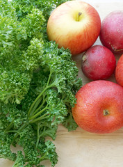 apples and green parsley