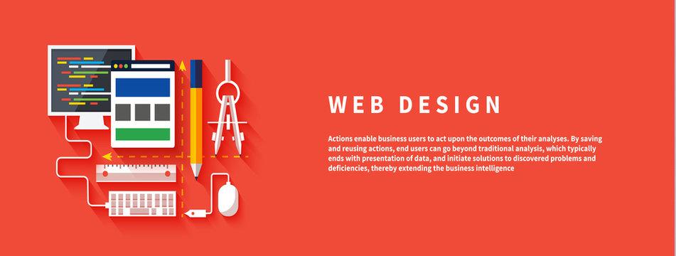 Web design. Program for design and architecture.