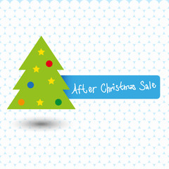 after christmas sale - stock vector