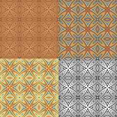 Vintage set elements for seamless vector patterns