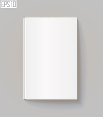Blank book cover. Eps 10