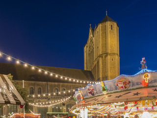 Traditional christmas market in Braunschweig, Germany