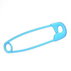 Safety pin 3d illustration