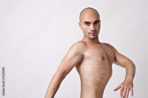 040287b655 Topless man posing weird