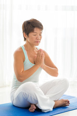 Performing lotus position