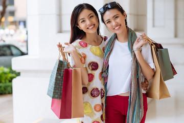 Beautiful shopaholics