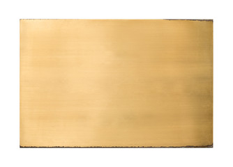 Shiny brass blank metal sign texture Wall mural