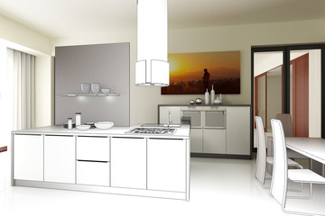 Loft-Kitchen (drawing)