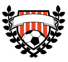 Soccer logo with leaf design