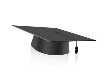 Graduation cap blank isolated on a white background