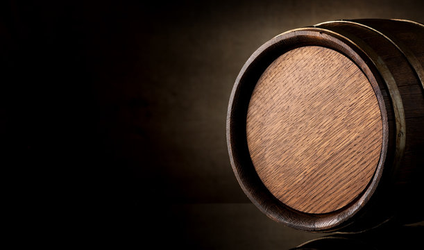 Barrel on brown
