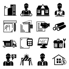 construction project icons