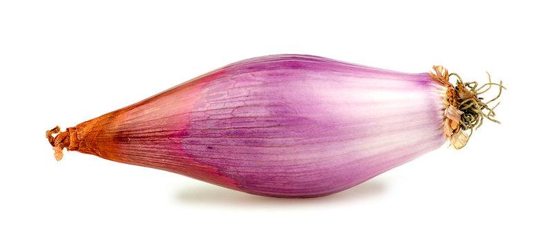 Banana onion shallot isolated on white background
