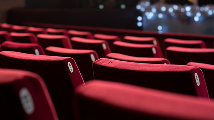 Empty Theater Chairs Fotomurales