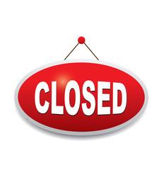 Sign board - closed